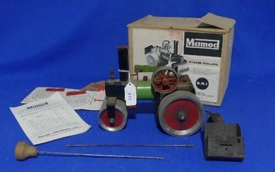 Mamod Steam Roller S.R.1., playworn, boxed, with steering ro...