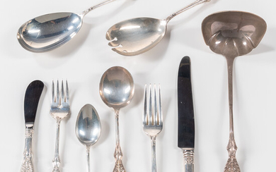 Manchester Silver Co. Valenciennes Pattern Sterling Silver Flatware Service