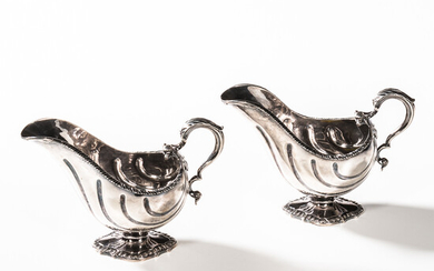 Pair of Victorian Sterling Silver Sauceboats