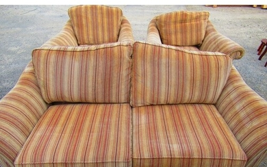 Parker Knoll country house style two seat sofa upholstered i...