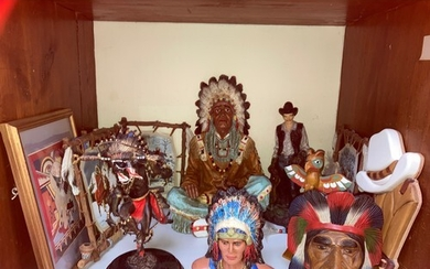 SECTION 13&14. A collection of Native American Indian figuri...