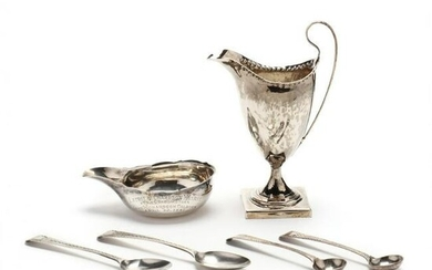 Six Antique English Silver Items