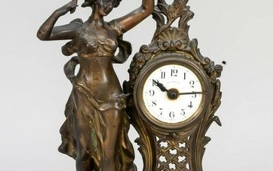Table clock in youth style, br