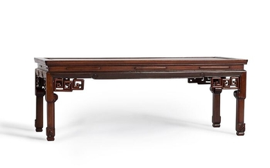 Table with Subtle Meander Decor - Hardwood - China - Qing Dynasty (1644-1911)
