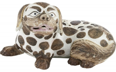 A Chinese Export Porcelain Model of a Pekingese