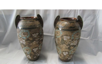 A LARGE PAIR OF LAMBERT DOULTON POTTERY IN GOOD CONDITION