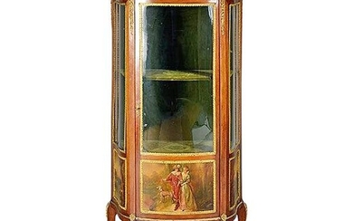 A Louis Xv Style Giltwood And Vernis Martin Vitrine