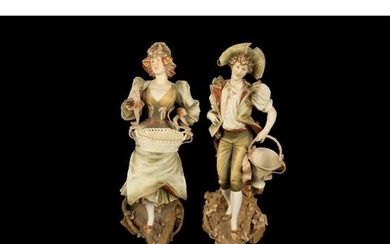A PAIR OF LATE 19TH / EARLY 20TH CENTURY VIENNESE PORCELAIN ...