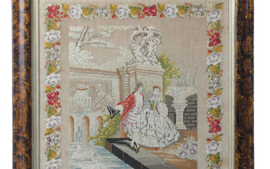 A VICTORIAN NEEDLEWORK PICTURE