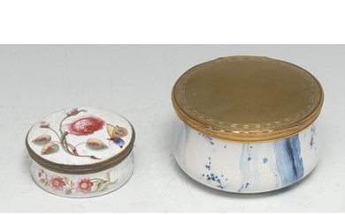 A large 18th century gilt-metal mounted faux marble enamel t...