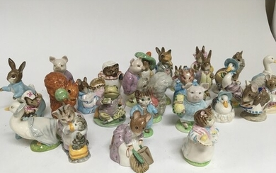 A large collection of Beswick Beatrix potter figures. No obv...