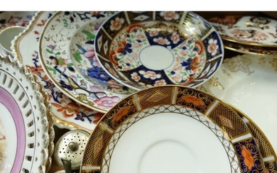 A mixed collection of items to include: Crown Derby Imari pa...