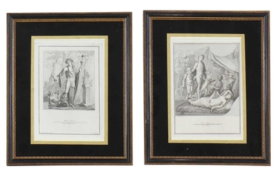 A pair of Grand Tour etchings