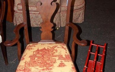 CHIPPENDALE STYLE CONVERTED POTTY CHAIR