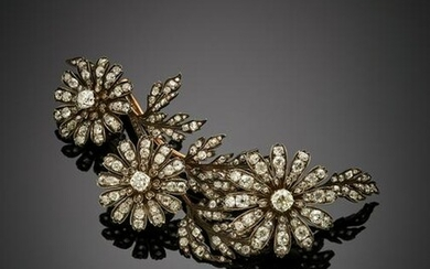 """Cushion shape and old mine diamond silver and gold """"en"""