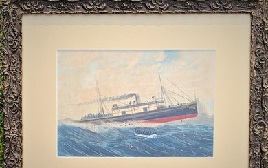 English School, late 19th century, Shipwreck of the SS Stel...