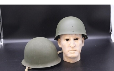 French Military Combat Helmet and Liner Post WW2