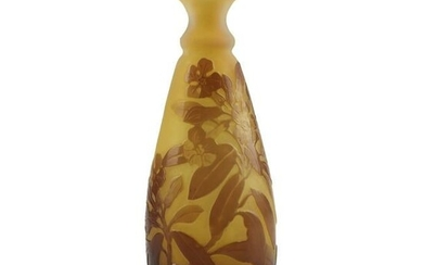 Galle Small Floral Cameo Glass Vase