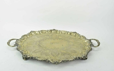 Joseph Jennens & Co Silverplate Footed Platter