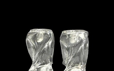Pair of St. Louis French Crystal Twist Form