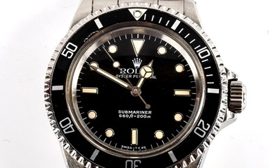 ROLEX - a Vintage stainless steel Oyster Perpetual Submarine...
