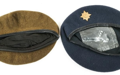 SOUTH AFRICAN MUNICIPAL POLICE BERET LOT OF 2