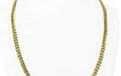 18k Yellow Gold 16.4g Hollow 5mm Curb Link Chain