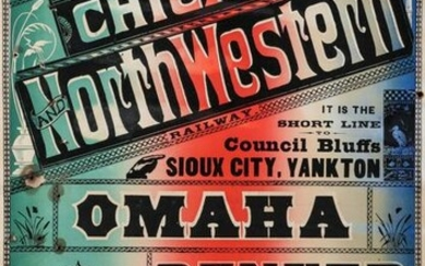 A COLORFUL 19TH C. BROADSIDE FOR CHICAGO NORTHWESTERN