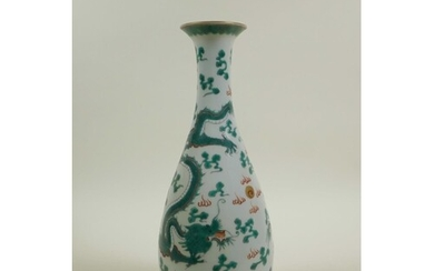 A Chinese late C19th/early C20th slender necked porcelain va...