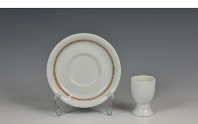 A Kriegsmarine Officer's china mess saucer and egg cup, both...