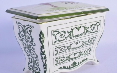 A ROYAL DOULTON HUNTLEY & PALMERS CHEST OF DRAWERS BOX AND C...