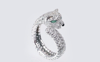 A Ring with Diamonds 'Panther'.
