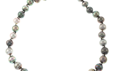 A Strand of Multi Colored Tahitian Pearls
