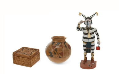 A group of three Southwest Native American items