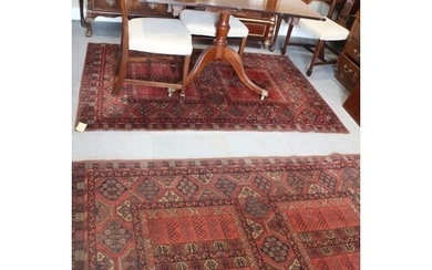 """A pair of Mossoul wool pile rugs of Persian design, 55"""" x 80..."""