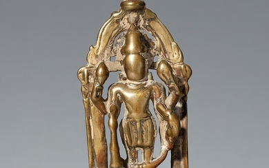 A possibly Bengali copper alloy altar of Vishnu. 17th/18th century or earlier