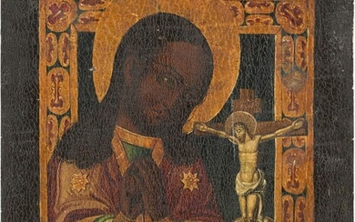 AN ICON SHOWING THE AKHTYRSKAYA MOTHER OF GOD Russian, 19th...