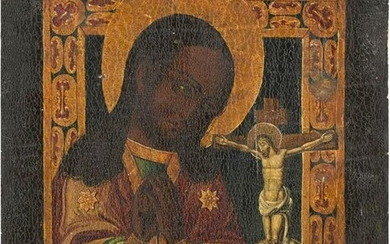AN ICON SHOWING THE AKHTYRSKAYA MOTHER OF GOD Russian
