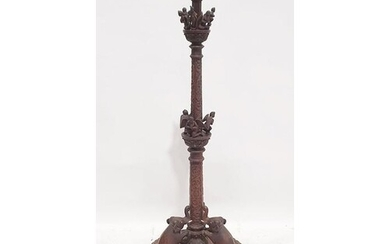 Anglo Indian style 20th century standard lamp in Eastern har...
