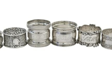 Assembled Sterling Silver Napkin Rings