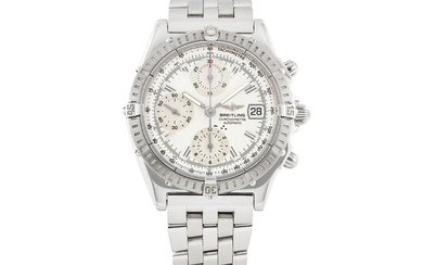 BREITLING, STEEL CHRONOGRAPH WITH DATE