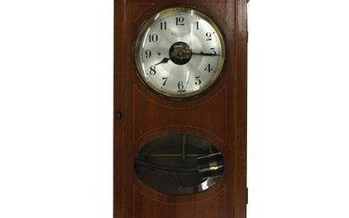 """Bulle half second electric wall clock, the 5.5"""" silvered dia..."""