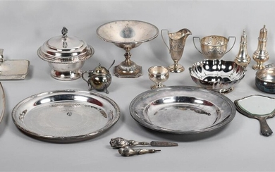 COLLECTION OF SILVER AND PLATED ITEMS