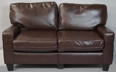 CONTEMPORARY LEATHER COUCH