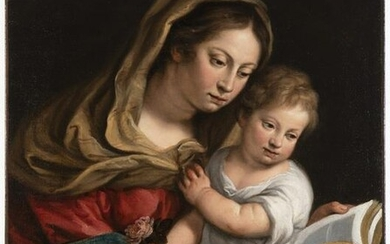 Madonna and Child Reading a Book