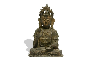 Chinese Bronze Seated Guanyin, Ming Dynasty