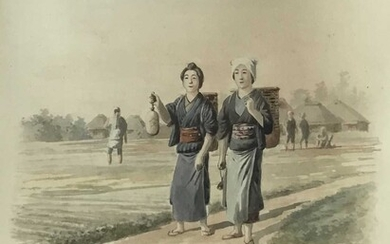 Chinese School, early 20th century, pair of watercolours