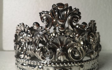 Crown for large sculpture of the Madonna - Silver - 18th century