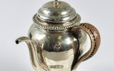 English Sterling Silver Side Handle Teapot