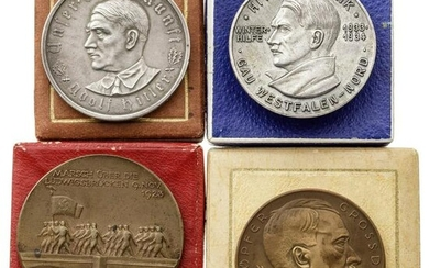 """Four medals in boxes - """"Grand Opening of Bridges in"""